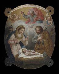 Badge with Adoration of the Shepherds (Escudo con la adoración de los pastores)