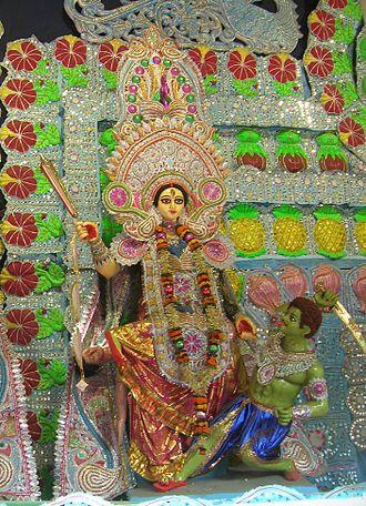 Bagalamukhi - bagalamukhi devi in a kali pooja pandal