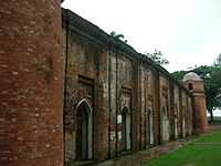 The 15th century old Sixty Pillar Mosque in Bagerhat.