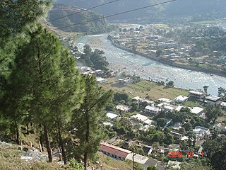 Bageshwar Town in Uttarakhand, India