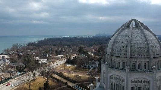 File:Baha'i Temple -- Wilmette , IL -- Drone Video (DJI Spark).webm