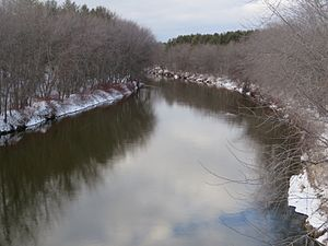 Baker River (New Hampshire) - The Baker River at U.S. Route 3 crossing in Plymouth, New Hampshire