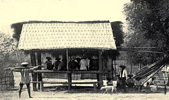 Spirit house - Balaua, the largest spirit house for anito among the Itneg people (1922, Philippines)
