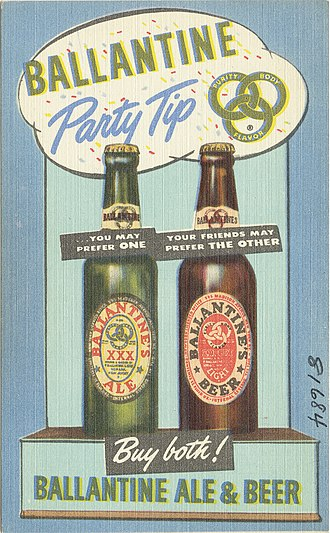 P. Ballantine and Sons Brewing Company - Promotion for the Ale and Beer.