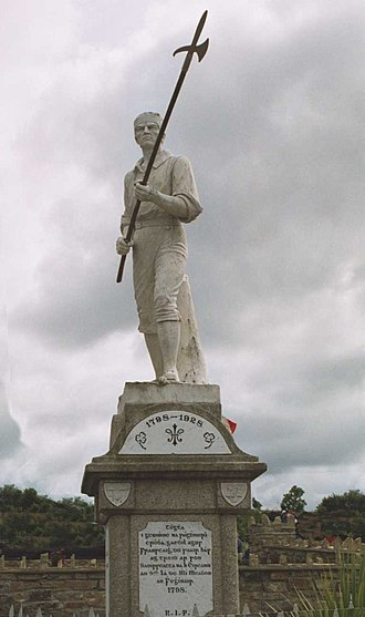 Ballinamuck - Pikemen memorial in Ballinamuck