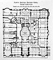 Balmoral Hotel (North British Station Hotel) floorplan, Edinburgh, Scotland - reprinted in Grand Hotels, Reality and Illusion by Elaine Denby - DSC03796.jpg