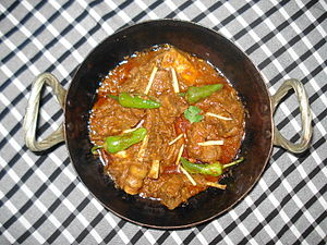 Balti (food) - Balti gosht in Pakistan