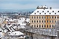 Bamberg, Neue Residenz mit Rosengarten, Ansicht vom Kloster Michelsberg 20170102-001.jpg