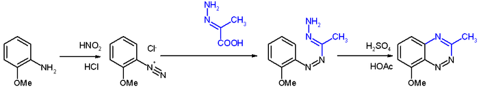 Bamberger triazine synthesis