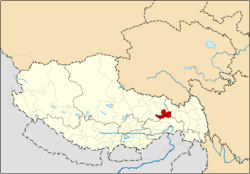 Location of Banbar County within Tibet Autonomous Region