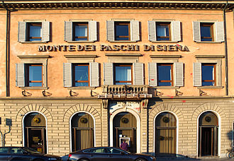 Financial institution - The oldest financial institution in the world, Banca Monte dei Paschi di Siena, founded in 1472.