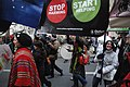Baner Oxfam – międzynarodowej organizacji humanitarnej, zajmującą się walką z głodem na świecie - Poznań - 000320c.jpg