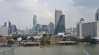 Bang Rak District - Bang Rak District taken from Iconsiam, across the Chao Phraya River