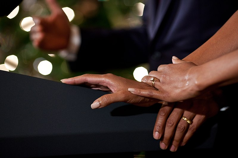 File:Barack and Michelle Obama's hands.jpg