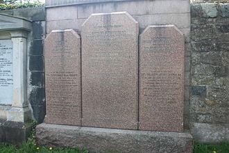Edward Gordon, Baron Gordon of Drumearn - Baron Gordon's monument, Dean Cemetery, Edinburgh