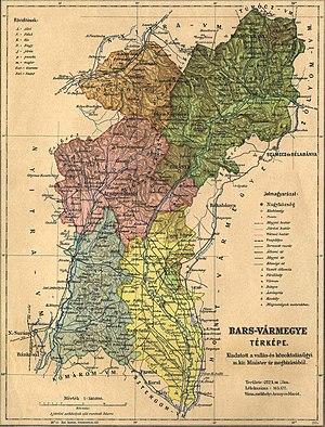 Bars County - Image: Bars county administrative map