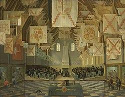 The Ridderzaal tijdens de vergadering van de Staten-Generaal in 1651