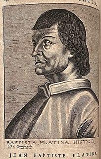 Bartolomeo Platina Italian humanist and gastronomer