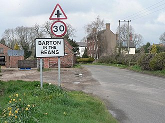 Barton in the Beans - Entrance to village
