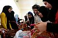 Baskets being decorated as part of a therapeutic handicraft training class in southern Lebanon. (14679661131).jpg
