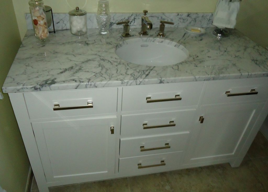 File:Bathroom Vanity Cabinet Including Sink And Drawers