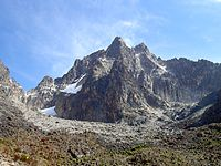 Batian on the left, Nelion on the right, and Slade in the foreground