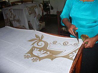 Resist - Image: Batik encerat 2