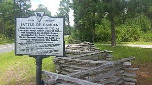 Camden Battlefield - Battle of Camden Historical Marker