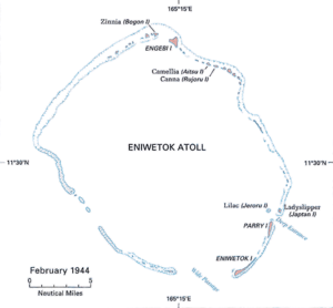 Battle of Eniwetok - Image: Battle of Eniwetok map