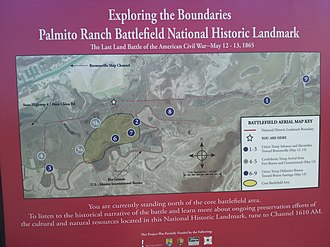 Battle of Palmito Ranch - Marker on Texas State Highway 4