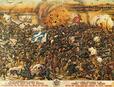 Darstellung der Schlacht am Sakarya des griechischen Lithographen Sotiris Christidis