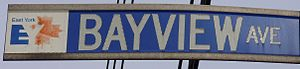 Bayview Avenue - Bayview Ave. sign in East York