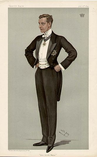 William Lygon, 7th Earl Beauchamp - Beauchamp caricatured by Spy for Vanity Fair, 1899