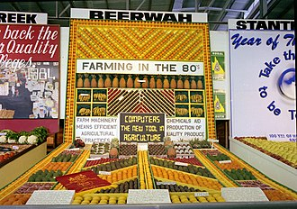 Beerwah, Queensland - Beerwah fruit and vegetable display, RNA Exhibition, Brisbane, August 1984