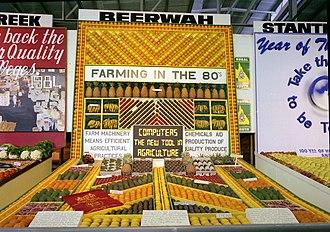 Beerwah, Queensland - Beerwah fruit and vegetable display, RNA Exhibition, Brisbane, August 1984