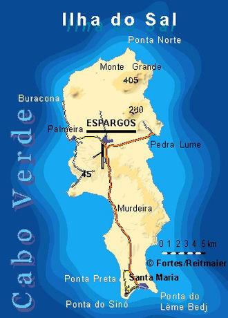 Sal, Cape Verde - Image: Bela vista net Sal map