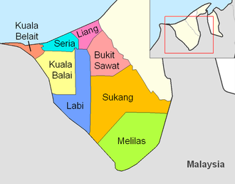 Belait District - Mukims of Belait district