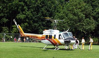 Bell 204/205 - A Bell 205A-1, used for parachutists during World Games 2005, Duisburg, Germany