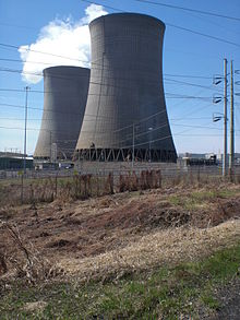 Bell Bend Nuclear Power Plant cooling towers from the north.JPG