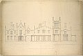 Belmead, Plantation Mansion for Philip St. George Cocke, Powhatan Co., Virginia (partial elevations of entrance facade, greenhouse facade and James River facade, shown as continuous) MET DT244938.jpg