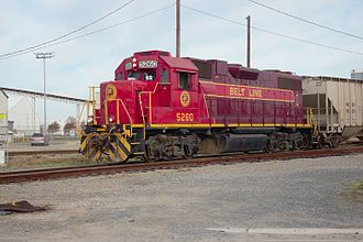 Norfolk and Portsmouth Belt Line Railroad - Image: Belt Line 5260 at Berkley on Nov.28, 2015 Dave George Photo (2)