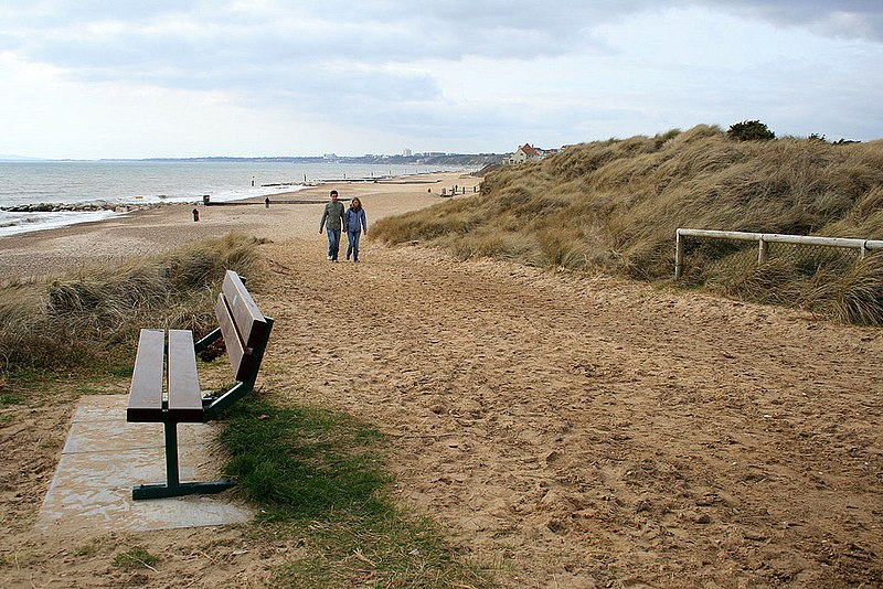 File:Bench on Solent Beach - geograph.org.uk - 1775922.jpg
