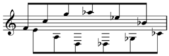 Lyric Suite (Berg) - Movement I tone row
