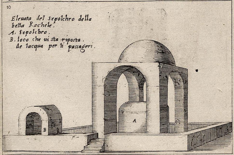 Bernardino Amico of Gallipoli sketch of Rachel's tomb 1610