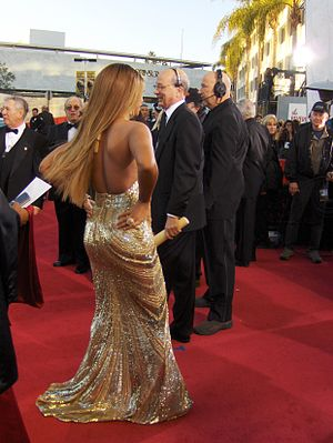 Red carpet fashion - Beyoncé on the red carpet at the 64th Golden Globe Awards on January 15, 2007