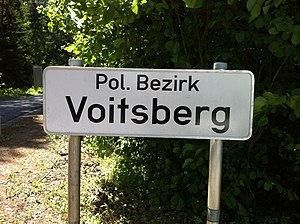 District (Austria) - Voitsberg District district border sign