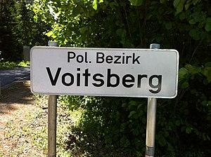 District (Austria) - Voitsberg District district border sign