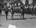 Bezoek Deense Koninklijke familie aan Amsterdam, aankomst Dam inspectie, Bestanddeelnr 906-4201.jpg