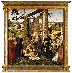 The Adoration of the Child with Saints and Donors