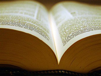 Shot of a bible with a very small depth of fie...